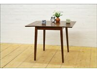 vintage teak dining table drop leaf danish design kitchen table