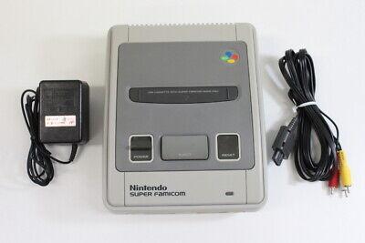 Nintendo Super Famicom Console AC & AV OEM 1CHIP-01 SFC SNES Import K1168 C