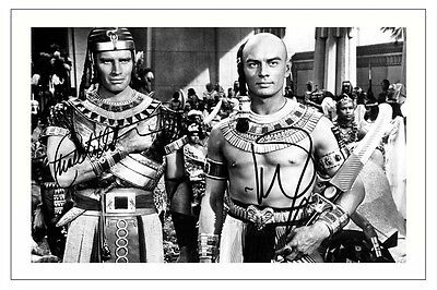 Yul Brynner signed photo print