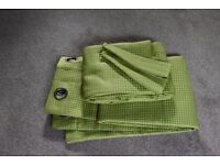 Dunelm Bright Green Lined Curtains with Tie Backs Each Curtain Width 90inch Drop 71inch