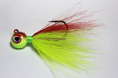 Glowing Sea Robin COLOR DISCOUNTS FREE SHIP 1 S/&S Rattletail Bucktail Jig 8 oz