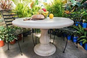 1.2m Concrete Outdoor Garden Dining Patio Furniture Round Table Fairy Meadow Wollongong Area Preview