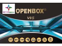 ★2017★OPENBOX V9S BUILT IN WIFI AND MOVIE CLUB ONLY - £50- FTA CHANNELS ONLY
