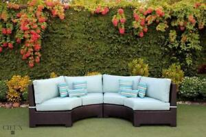 Cieux Outdoor Patio Wicker Furniture - Thick Cushions & Deep Seating - Sofas, Sectionals, Chairs, Dining Tables & More