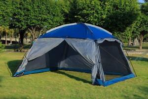 NEW IN BOX - WORLD FAMOUS SCREEN HOUSE GAZEBO TENT WITH RAIN FLAPS - PROTECTION FROM INSECTS, SUN AND RAIN !!