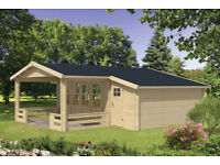 LOG CABIN WITH SIDESTORE AND COVERED VERANDA