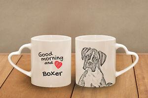 "Boxer - ceramic cup, mug ""Good morning and love, heart"", AU - Zary, Polska - Boxer - ceramic cup, mug ""Good morning and love, heart"", AU - Zary, Polska"