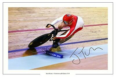 JASON KENNY AUTOGRAPH SIGNED PHOTO PRINT TRACK CYCLING 2014 COMMONWEALTH GAMES
