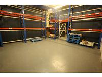 1000 sq ft Warehouse, Unit, workshop, storage, secure, 1 min from M74, glasgow, near southside