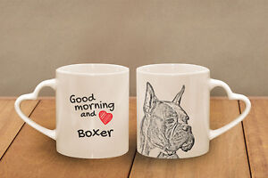 "Boxer 2 - ceramic cup, mug ""Good morning and love, heart"", AU - Zary, Polska - Boxer 2 - ceramic cup, mug ""Good morning and love, heart"", AU - Zary, Polska"