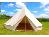 Glamping Canvas 100% Cotton Bell tent for camping. Luxury Large Family Tents Supplier for events.