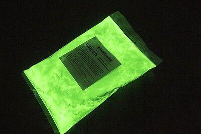 Green Glow 5 (GREEN Glow in the Dark pigment powder 5th Gen 1lb Luminous,)
