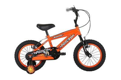 "Bumper Force Kids Boys Bike Bicycle with Stabilisers 16"" Wheel 8.5"" Frame EM1714"