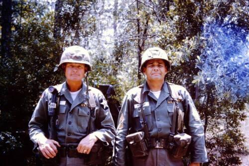 Vietnam War Lt Col Hal Moore CSM Basil Plumley la Drang Valley Glossy 8x10 Photo