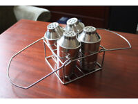 Medium/Small Cocktail Shaker Set, Four Shakers with carrying Basket, great for parties.