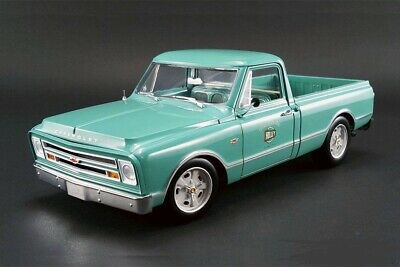 1967 HOLLEY SPEED SHOP VINTAGE CHEVROLET C-10 PICK-UP TRUCK GREEN ACME 1:18 GMP