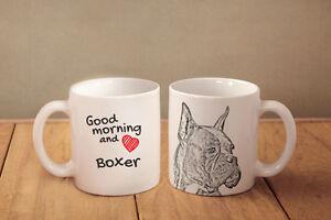"Boxer 2 - ceramic cup, mug ""Good morning and love"", AU - Zary, Polska - Boxer 2 - ceramic cup, mug ""Good morning and love"", AU - Zary, Polska"