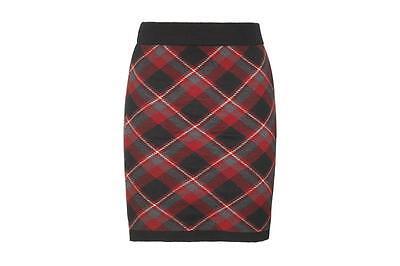 Bonnie Doon  Rock Plaid Checks Skirt  Gr. S ( 38 -40) Neu Black/Beetroot