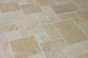 Antique Light Travertine Floor Tiles Opus Pattern -  *PACKAGE DEAL*