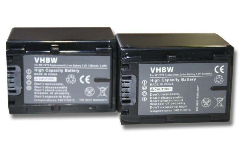 2x+BATTERY+1300mAh+FOR+SONY+NEX-VG+30+NEX-VG+30+EH+NEX-VG+900