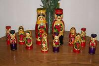 Hand Crafted Russian Matreshka Dolls