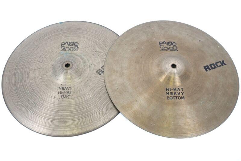 "Paiste 2002 14"" Heavy Rock Hi-Hat Cymbals"