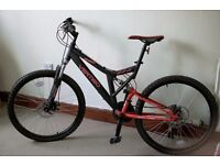 """Dual Suspension Mountain Bike - 26"""" wheels / 21 speed / disc brakes - Never been used"""