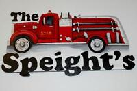 Custom Fire Truck House Signs