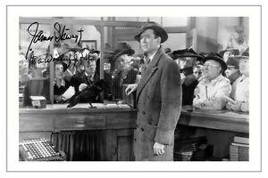 James Stewart It 39 S A Wonderful Life Signed Photo Print Autograph Jimmy Ebay