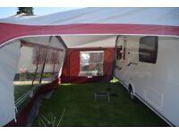 Caravan Awning - Size 15 - 1000 - 1025cm - Dorema Caravan Awning with Annex