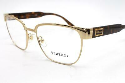Versace 1264 Eyeglasses Gold Havana 1460 Authentic 54mm