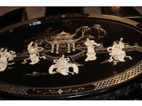 Beautiful Chinese coffee table and stool set