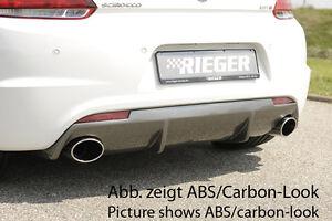 Rieger Heckeinsatz Diffusor VW Scirocco III für Orig. Endrohre NEU RIEGER-Tuning