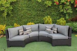 FREE Delivery in Hamilton! Outdoor Patio Curved Sectional by Cieux!