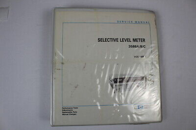 Agilent 03586-90002 Service Manual 3586abc Selective Level Meter Volume I