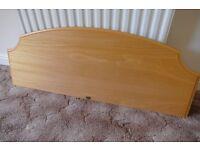 4 foot wooden bed headboard