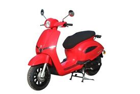 NEW AJS INSETTO 125CC SCOOTER, RED, FOR £9.71 PER WEEK