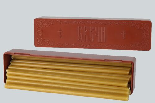 Official Candles of the Russian Orthodox Church, 30 Wax Candles in Case, Sofrino