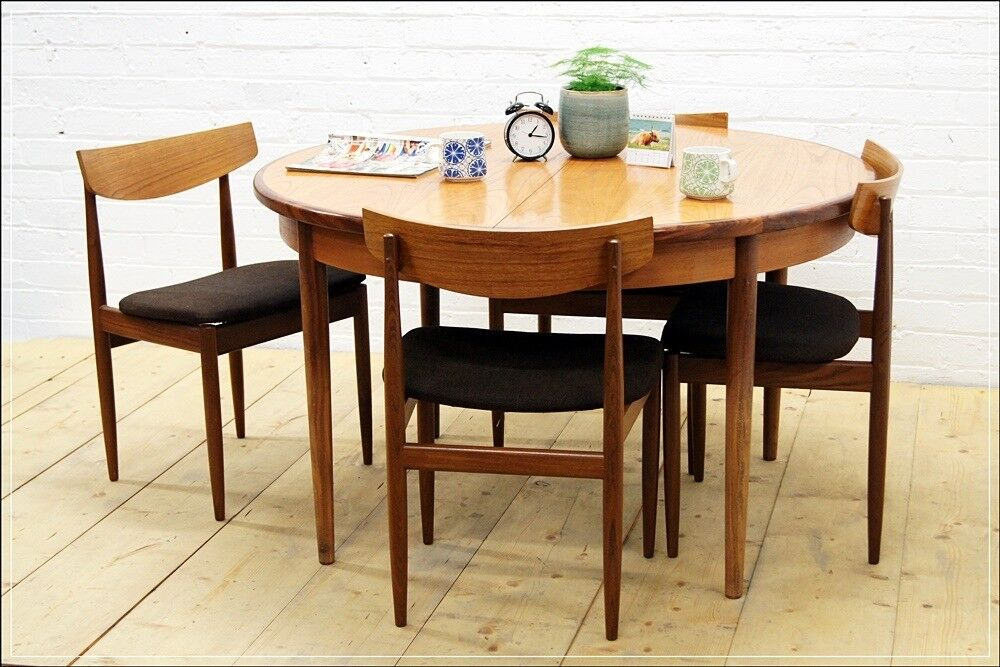 Mid Century Teak Dining Table 4 Chairs G Plan Danish Design