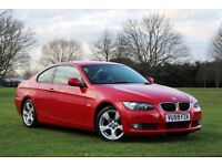 2009 BMW 320D SPORT COUPE LOW MILES RARE RED FULL BMW HISTORY PRISTINE 2 OWNERS M SPORT