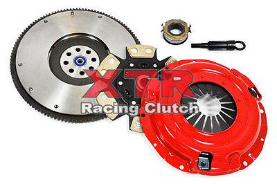 6 Puck Clutch Kit - XTR 6-PUCK CLUTCH KIT& FLYWHEEL fits 90-01 Subaru Impreza 1.8L Legacy 2.2L EJ22
