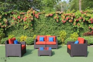 FREE Delivery in Montreal! Patio Sunbrella Conversation Sofa Set by Cieux