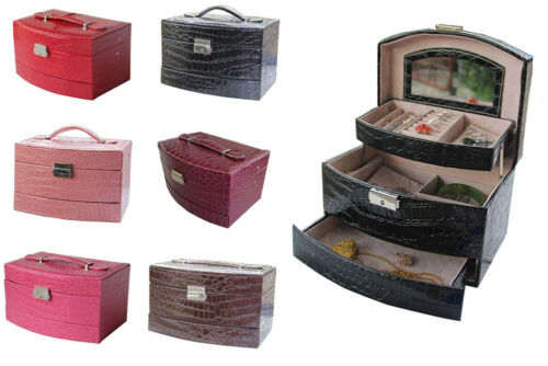 Jewellery - PU Leather Necklace Bracelet Jewellery Display Storage Box Case Organiser New