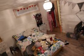 Big double room in huge colourful and creative warehouse all bills inc