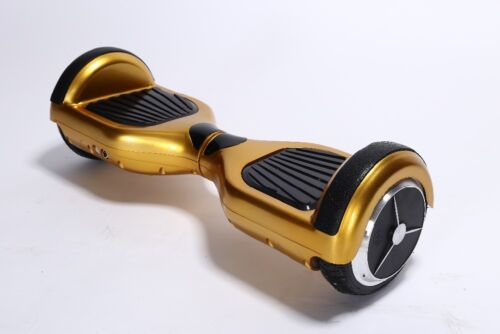 """Self Balancing 6.5"""" E-Scooter Gold Bluetooth Remote LED Samsung Cells Batteries"""