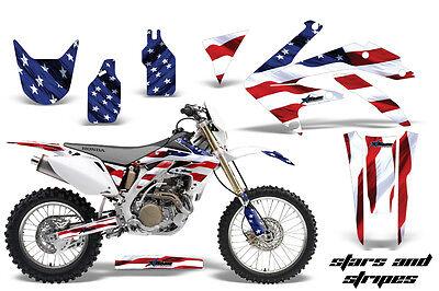 Dirt Bike Decal Graphics Kit Sticker Wrap For Honda CRF450X 2005-2016 USA FLAG