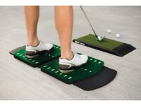 BNIB SKLZ Golf Training Aid Stance Trainer Elevated Foot Alignment Mat