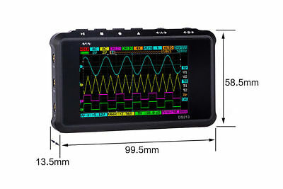 Arm Dso213 Nano V2 Quad Pocket Digital Oscilloscope With Aluminum Black Case A