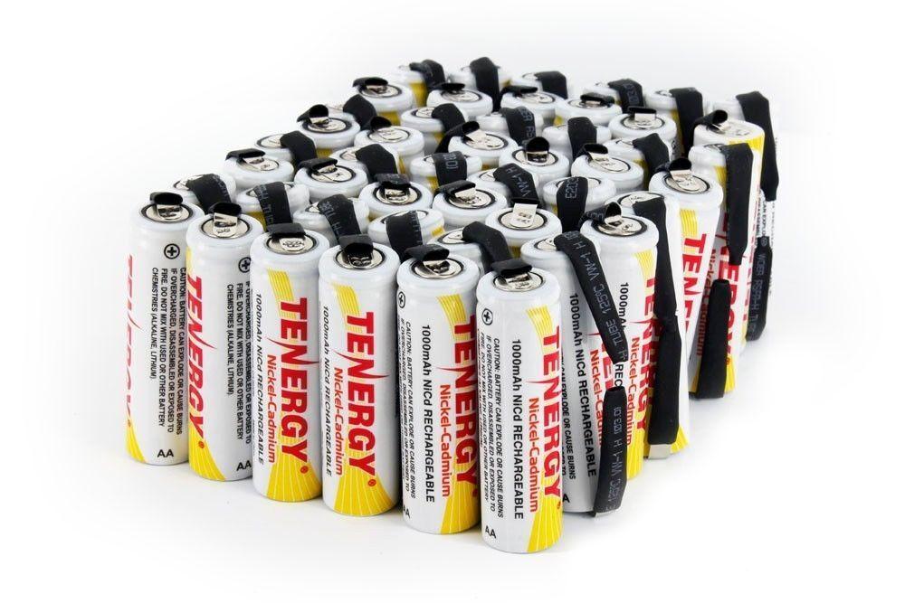 Tenergy AA High Capacity 1000mAh NiCd Rechargeable Batteries