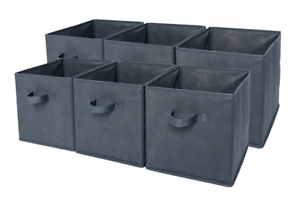 Elegant Sodynee Foldable Cloth Storage Cube Basket Bins Organizer Containers  Drawers 6